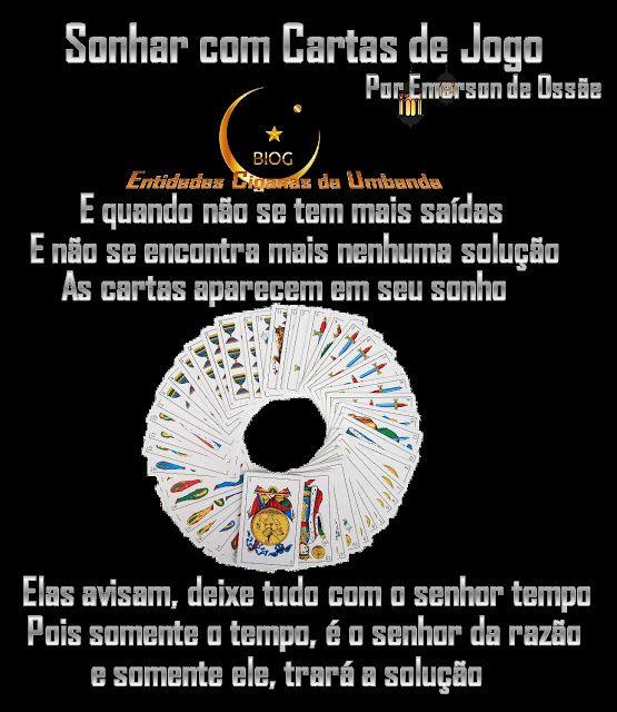 Entidades Ciganas da Umbanda (Clique Aqui) para entrar.: SONHAR COM CARTAS DE JOGO - SÍMBOLO ONÍRICO CARTA ...