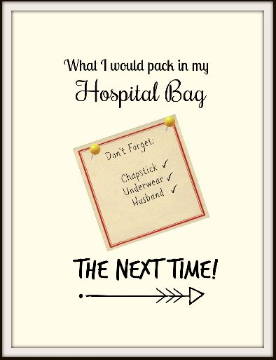 What To Pack In Your Hospital Bag – #blogcember Day 4 – The Cherished Life