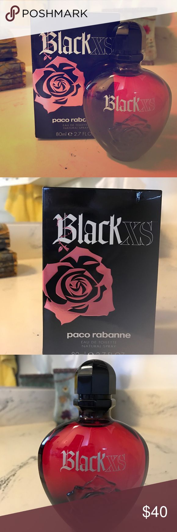 XS perfume by Paco Rabbane XS perfume 2.7 oz by Paco Rabbane.  NIB.  Super sexy!  Dark, mysterious and has great staying power on the skin.  This is like my 3rd bottle and I always get compliments!  Never used Paco Rabbane Other