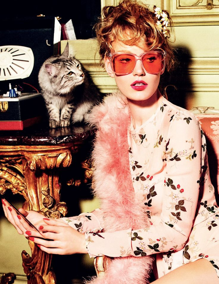 Vogue Russia April 2016 Hollie May Saker by Ellen von Unwerth