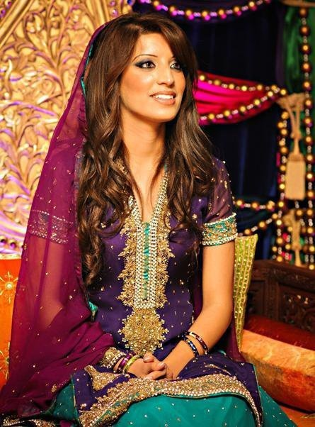 Another multi/rainbow lehnga, with a smaller variation of colors. Muslim Pakistani Mehndi Ceremony. gorgeous bride!