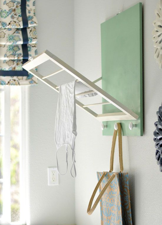 DIY Hanging Fold Up Laundry Drying Rack ,