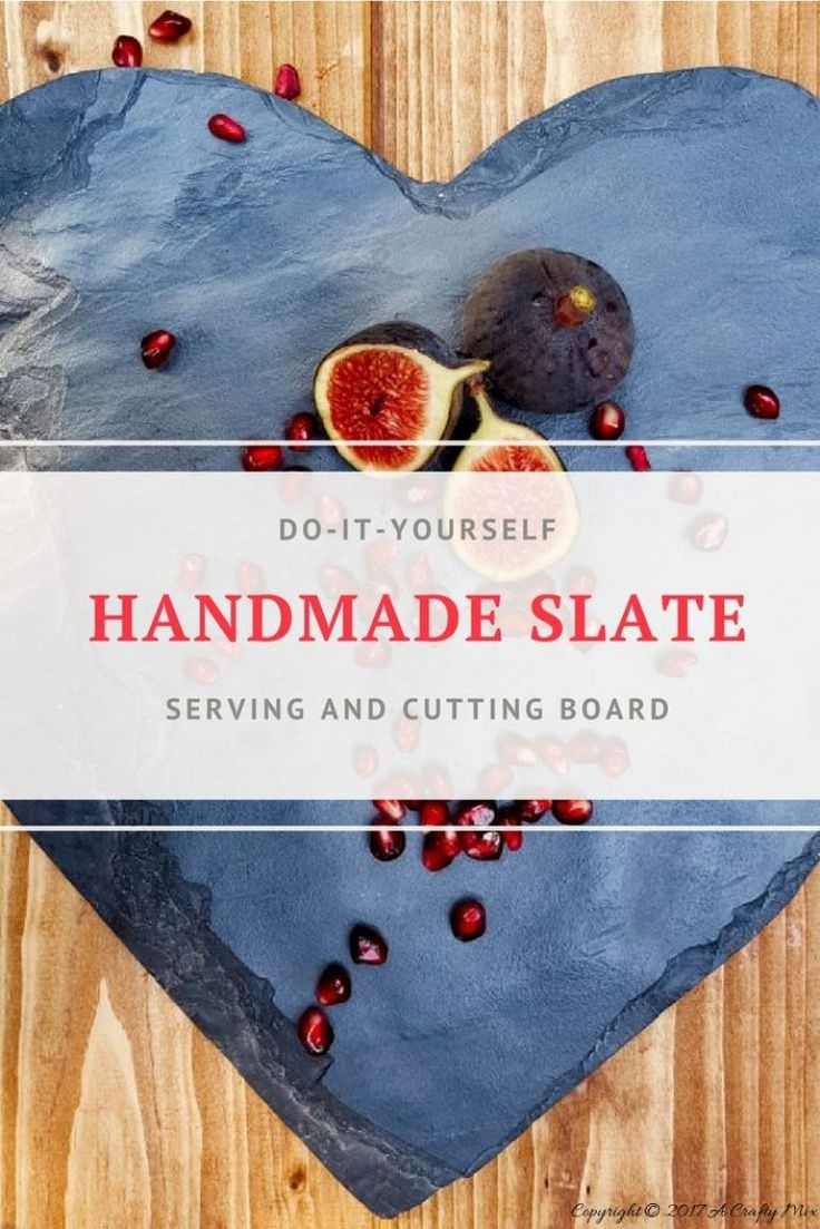 How to make this gorgeous hand crafted slate serving board. Full tutorial and video on the blog