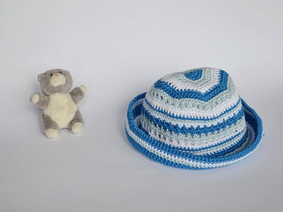 Summer baby accessories Baby sky blue hat  Crochet by Notforeat