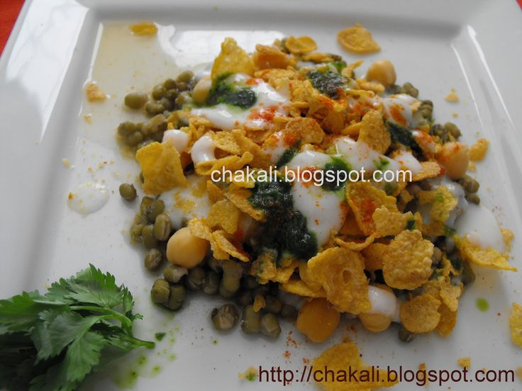 Corn Flakes Chat in Marathi Serves: 4 persons Time: 10 minutes (If all ingredients are ready) I ngre...