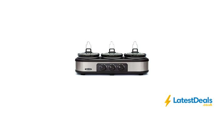 Bella Triple Slow Cooker and Warming Station Free Delivery Argos/ebay, £49.99