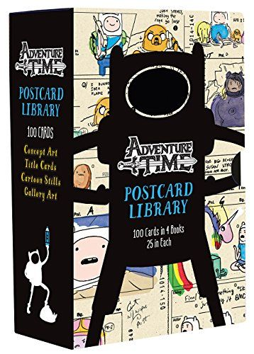 Adventure Time Postcard Library: 100 Cards in 4 Books, 25...  -  $18.08 Prime
