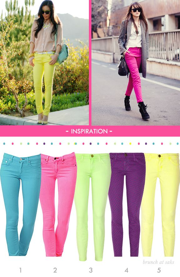 25  best ideas about Neon jeans on Pinterest   Neon pink pants ...