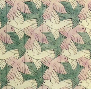 ESCHER bird pattern