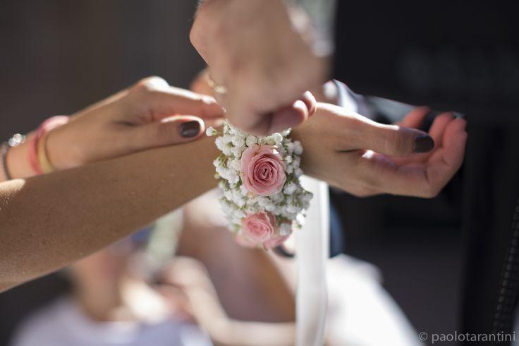 Braccialetto di fiori per damigelle