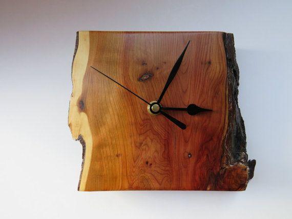 Handmade Yew wood Clock