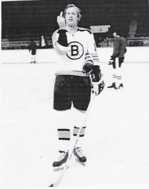Wayne Cashman, flipping off the camera (boston bruin)