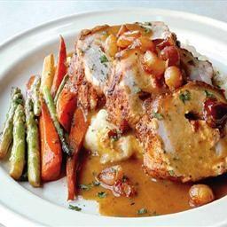 Pork Tenderloin Roast with Apple, Onion and Garlic Gravy on BigOven: