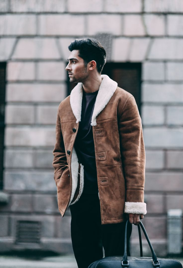 Shearling coat from Reiss