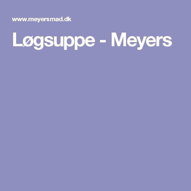 Løgsuppe - Meyers