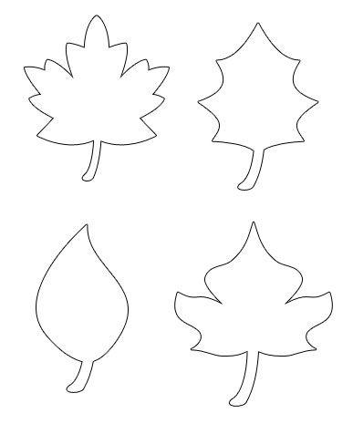 pumpkin leaves template