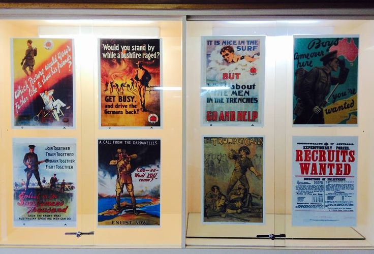 ANZAC DAY 2015: Recruiting posters for World War I.