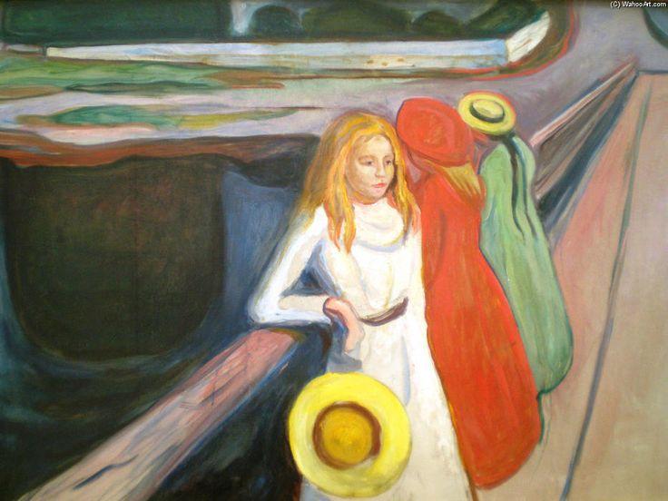 """Girl on a Bridge"" de Edvard Munch (1863-1944, Norway)"