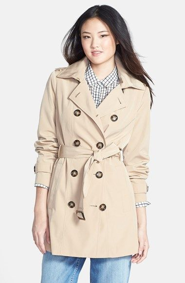 Calvin Klein Double Breasted Trench Coat available at #Nordstrom