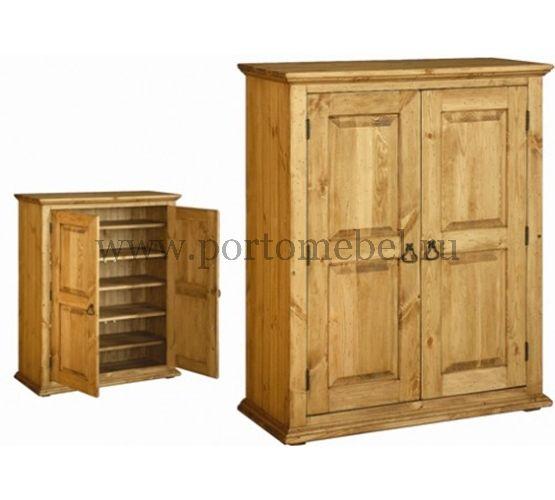 Шкаф для обуви 2-х дверный 13350 руб Ширина x Высота x Глубина (мм):  1050 x 1200 x 420