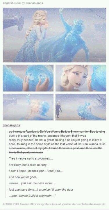 Do you want to build a snowman reprise Frozen