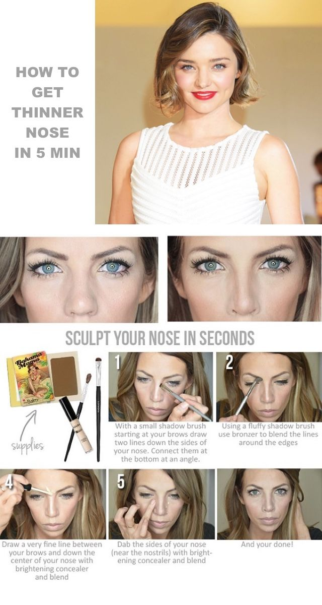 nice Makeup Tips How to get a thinner nose in 5 min , With a few easy makeup contouring tips you can have a thinner nose in 5 min. Make your nose appear smaller and slimmer using only makeup that is sligh... , #Celebritymakeup #faceshapes #makeuptips
