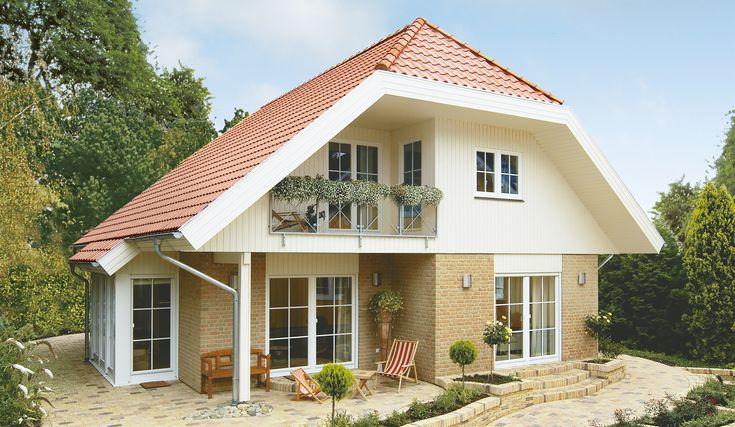 Danhaus Kolding im Landhaus-Stil Terrassenansicht