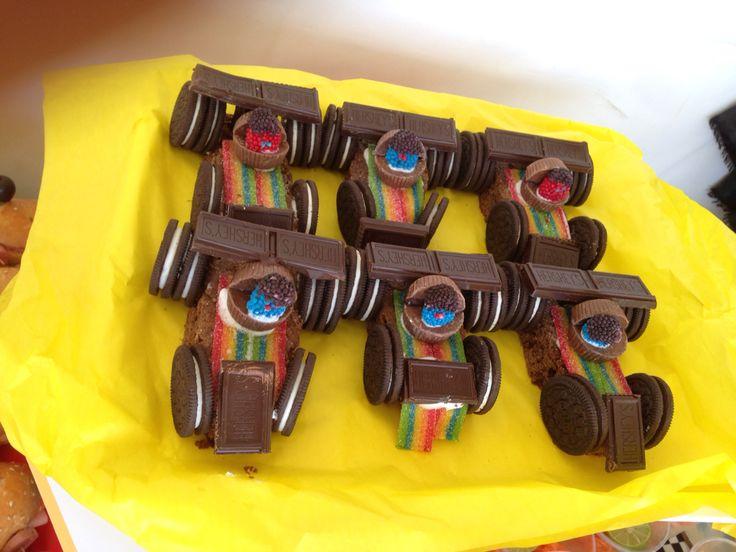 Carritos de brownies y dulces