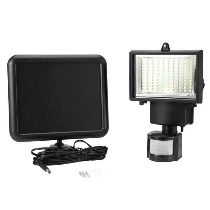 100 LED Solaire Lumière Extérieure Capteur de Sécurité Jardin Lumière PIR Motion Sensor D'urgence Lampe Chemin Mur Solaire Lampes