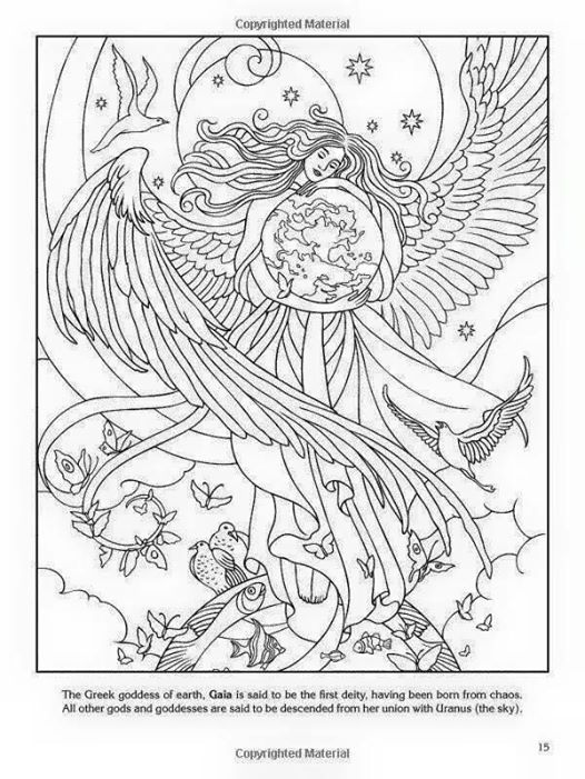 Earth Mother Coloring Page