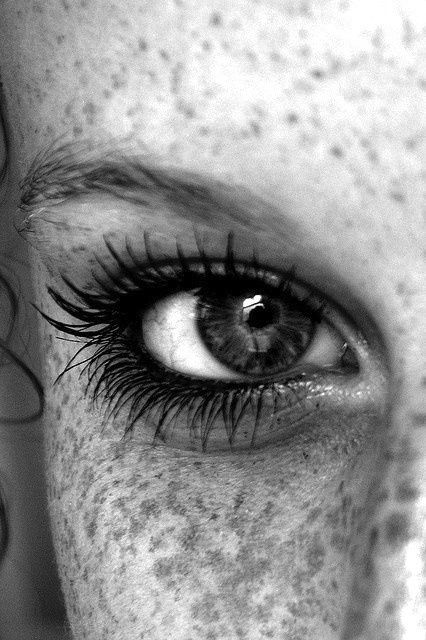 """Freckles and stunning eyes-- !""""chicagobrunette""""!"""