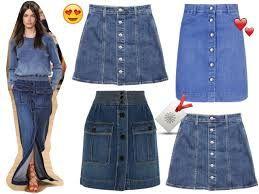 Resultado de imagen para falda de jean