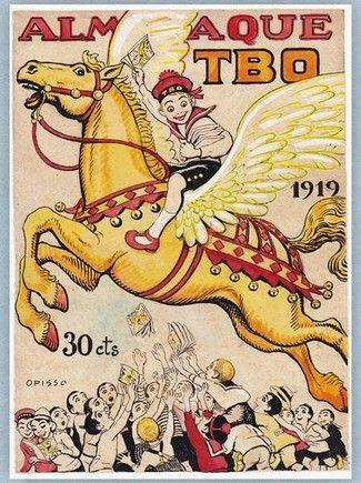 Ricardo Opisso y Sala (1880 - 1966) pintor, dibujante e historietista.- Portada de Almanaque TBO 1919 a 30 centimos de peseta.