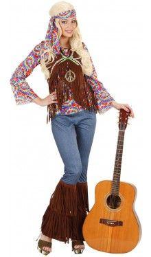 Klassisches Hippie Kostüm Chill-Out für Damen 29,95