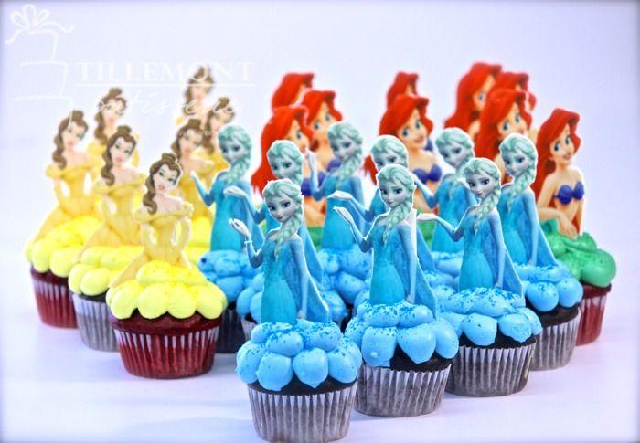 Childrens Cakes | Patisserie Tillemont | Montreal - disney princess cupcakes
