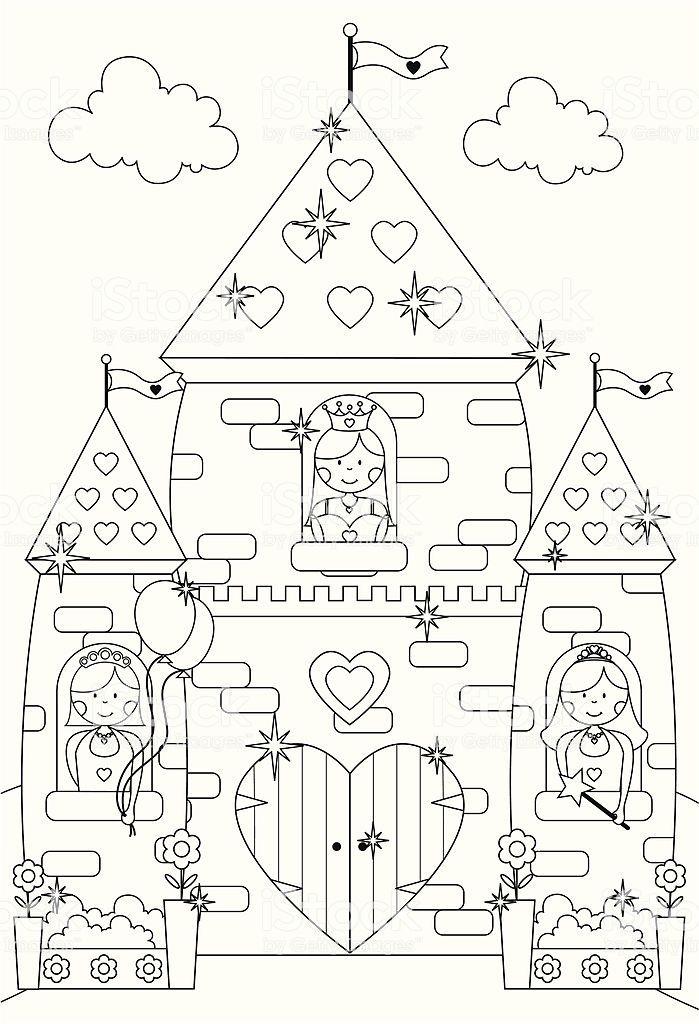 Ausmalbilder Prinzessin Im Schloss - tiffanylovesbooks