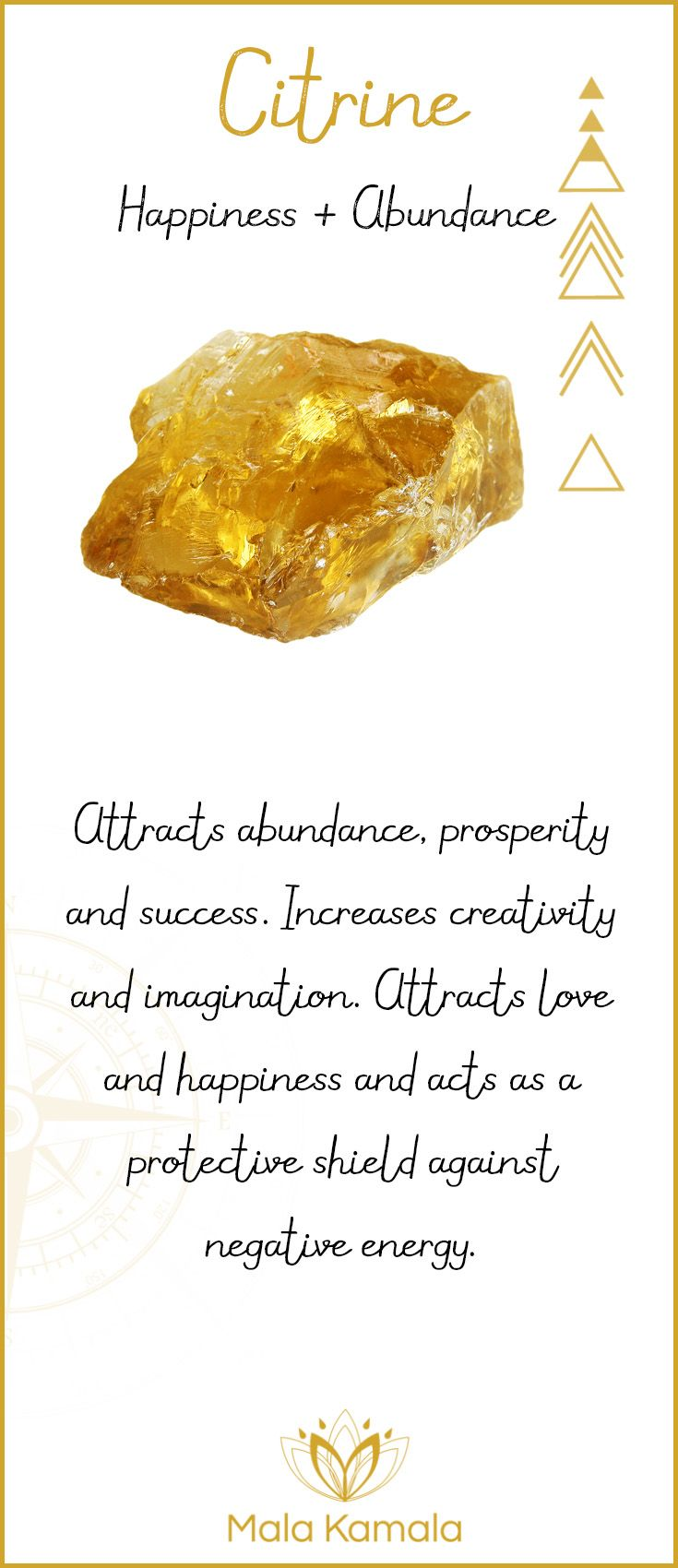 Solar Plexus & Sacral Chakra Gemstone. Citrine - A stone for happiness and abundance.
