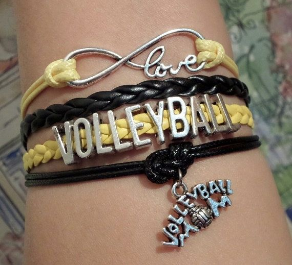 Infinity love Bracelet Volleyball Volleyball Mom by SummerWishes