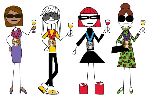 My new favorite gift for middle sisters! Ea wine has a 'personality' that could match anyone! Rebel Red anyone?