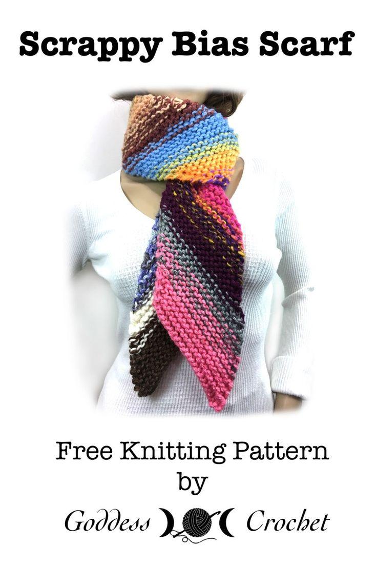 31 besten Bias knitted scarf Bilder auf Pinterest | Strickmuster ...