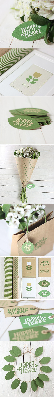 Happy Flower, Identity © SergTropov Simply love this #packaging #branding #marketing PD