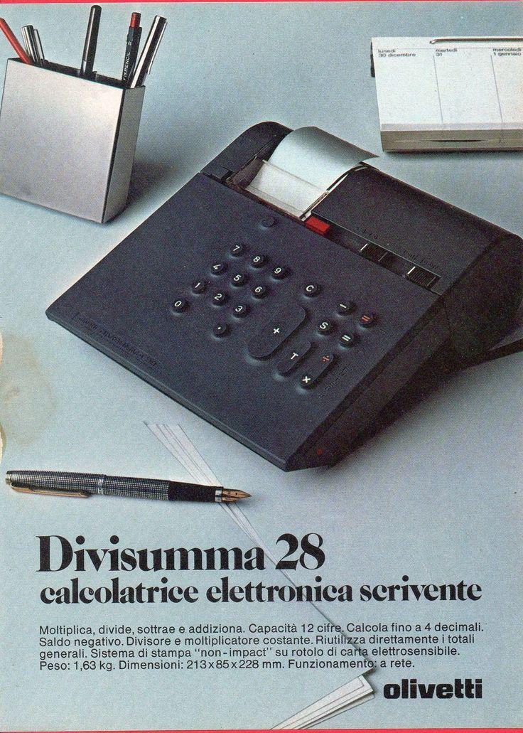 Pubblicità Advertising Werbung 1975 OLIVETTI Divisumma 28 in | eBay