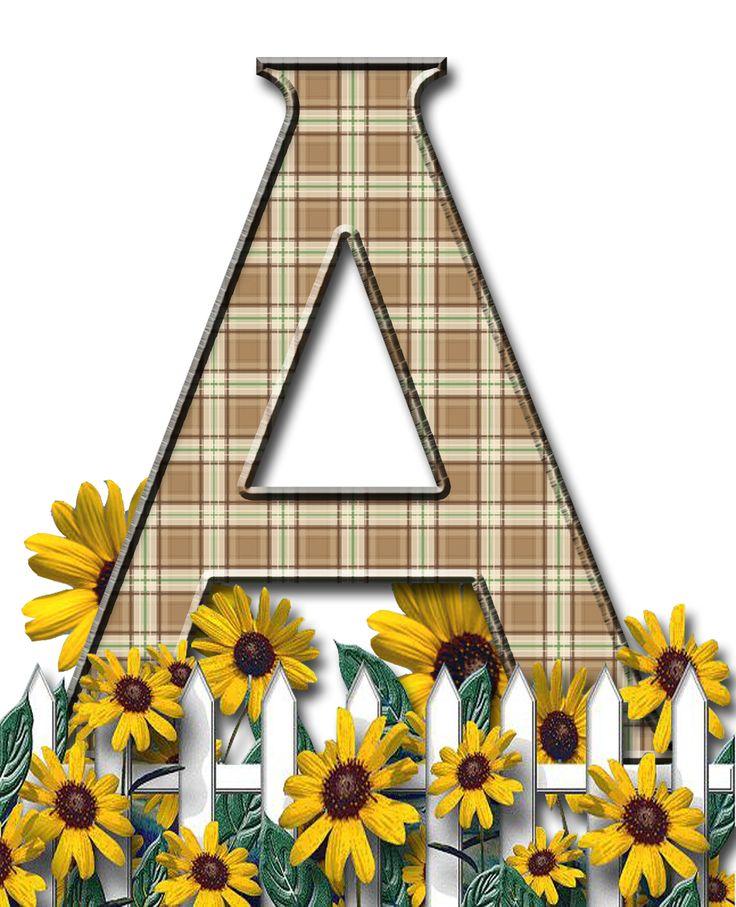 Free Plaid Sunflower Digi Scrapbook Alphabet ...