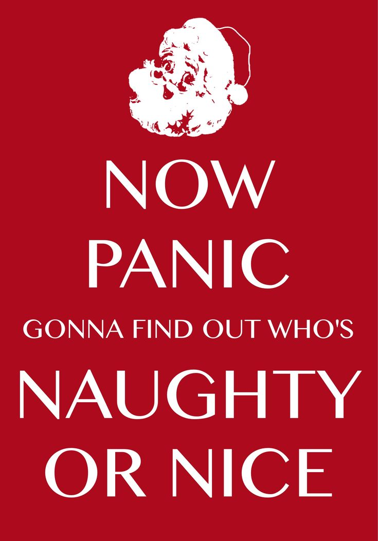 now panic gonna find out who's naughty or nice / Created