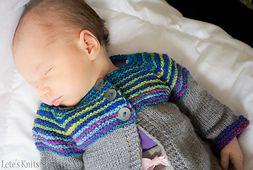 Linnie is a seamless cardigan knit utilising the top down raglan shaping method.