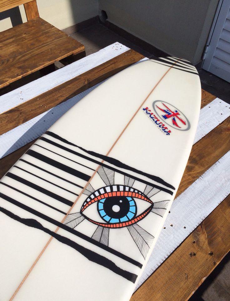 Surfboard art, kazuma, posca