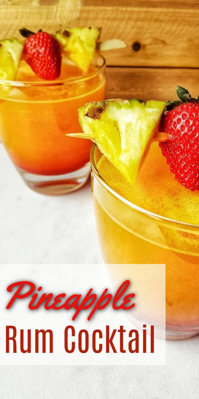Deliciously Refreshing Pineapple Rum Cocktail Pineapple Rum Rum Recipes Rum Drinks Recipes