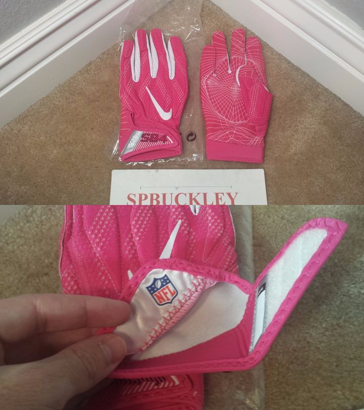 Gloves 159114: Nike Superbad 4 Adult Padded Football Gloves, Pink, Nfl Issued, Bca, New, Pgf440 -> BUY IT NOW ONLY: $49.99 on eBay!