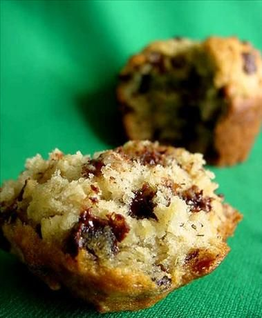 Banana Chip Muffins from Food.com: These are wonderful little muffins. I always have to have one just out of the oven warm. These are so good.