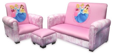 Delta Children's Products Princess Hearts and Crowns Toddler Set - contemporary - kids chairs - Wayfair